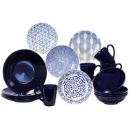 Blue & White 16 Piece Dinnerware Set