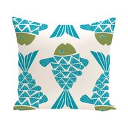 Beach Vacation Big Fish Coastal Outdoor Throw Pillow