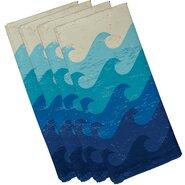 Surf, Sand, & Sea Deep Sea Geometric Napkin (Set of 4)