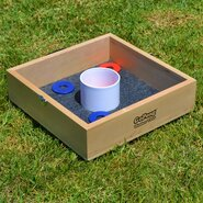 Premium Birch Wood 10 Piece Washer Toss Game Set