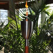 Brushed Nikkon Tiki Torch