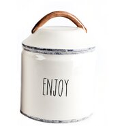 "Mr. Food Test Kitchen Farmhouse ""Enjoy"" Canister"