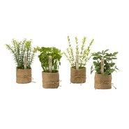 Herb Faux Desk Top Plant (Set of 4)