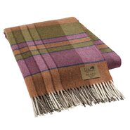 Mod Plaid Lambswool Throw