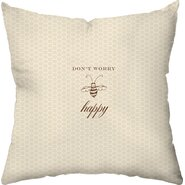 Bee Happy Outdoor Throw Pillow