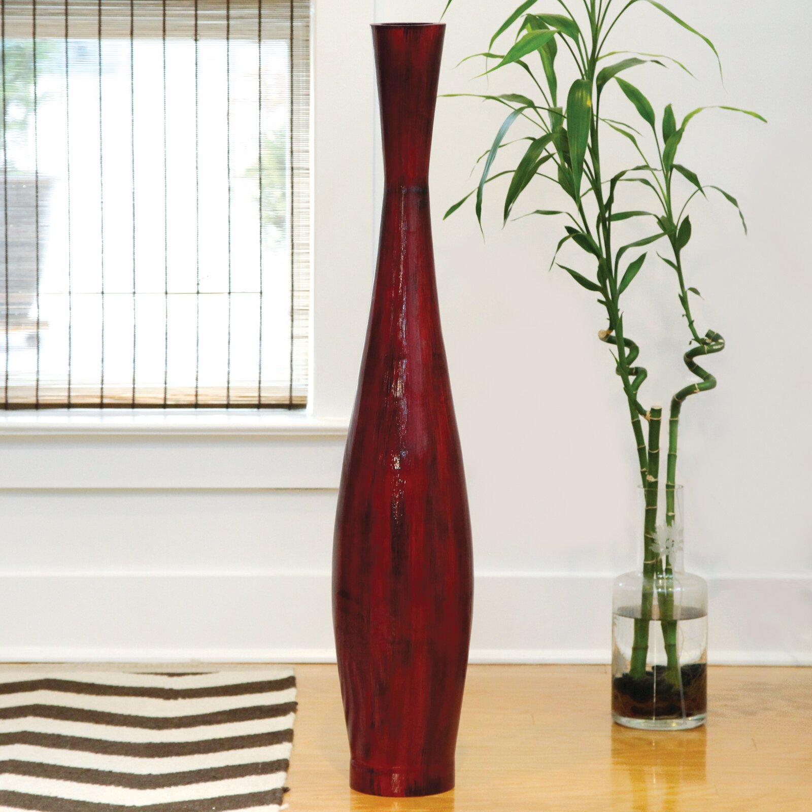 Polivaz red bamboo floor vase reviews wayfair