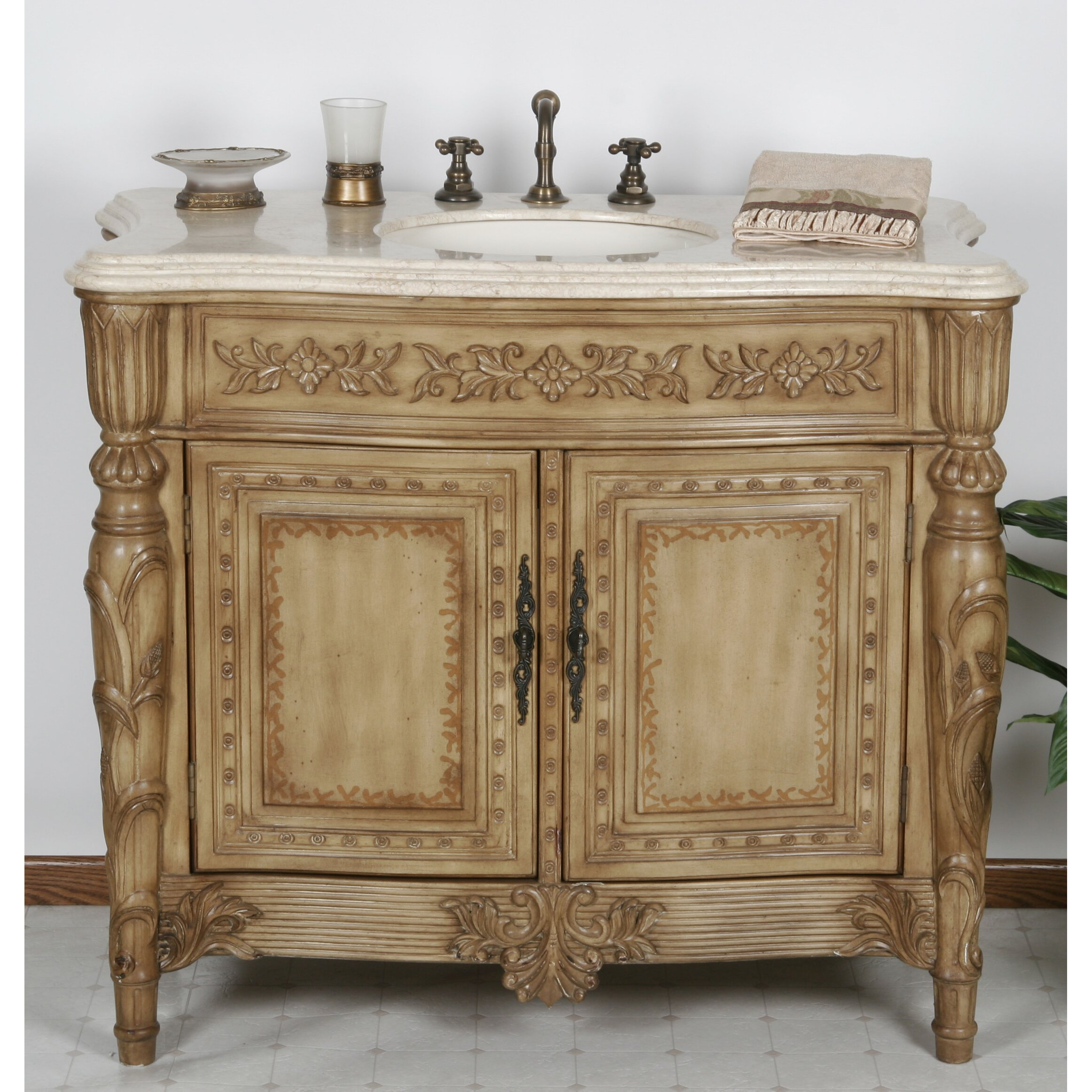 b i direct imports miami 42 single bathroom vanity set reviews wayfair. Black Bedroom Furniture Sets. Home Design Ideas