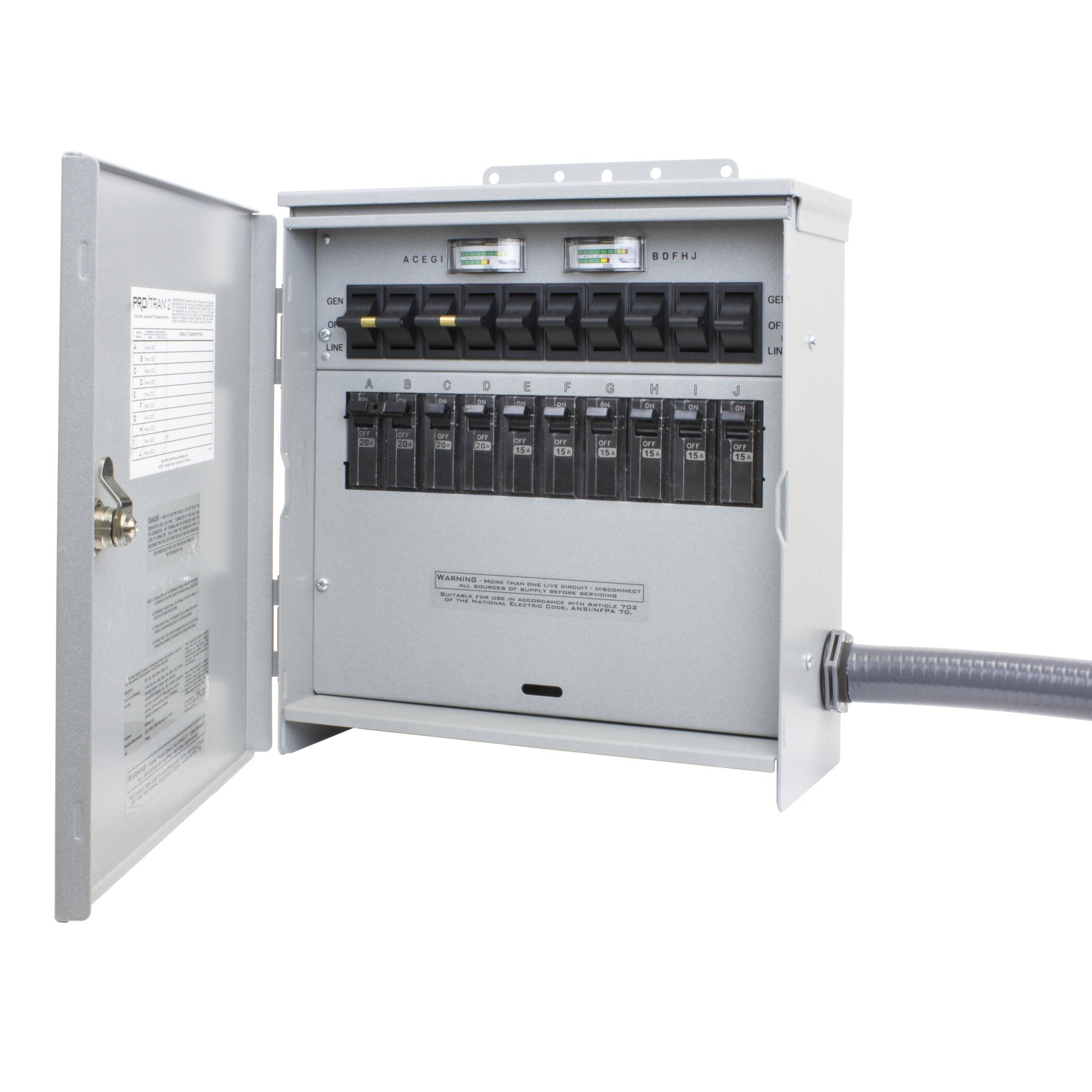 To Get Information about Reliance Generator Transfer Switch 10 Circuit