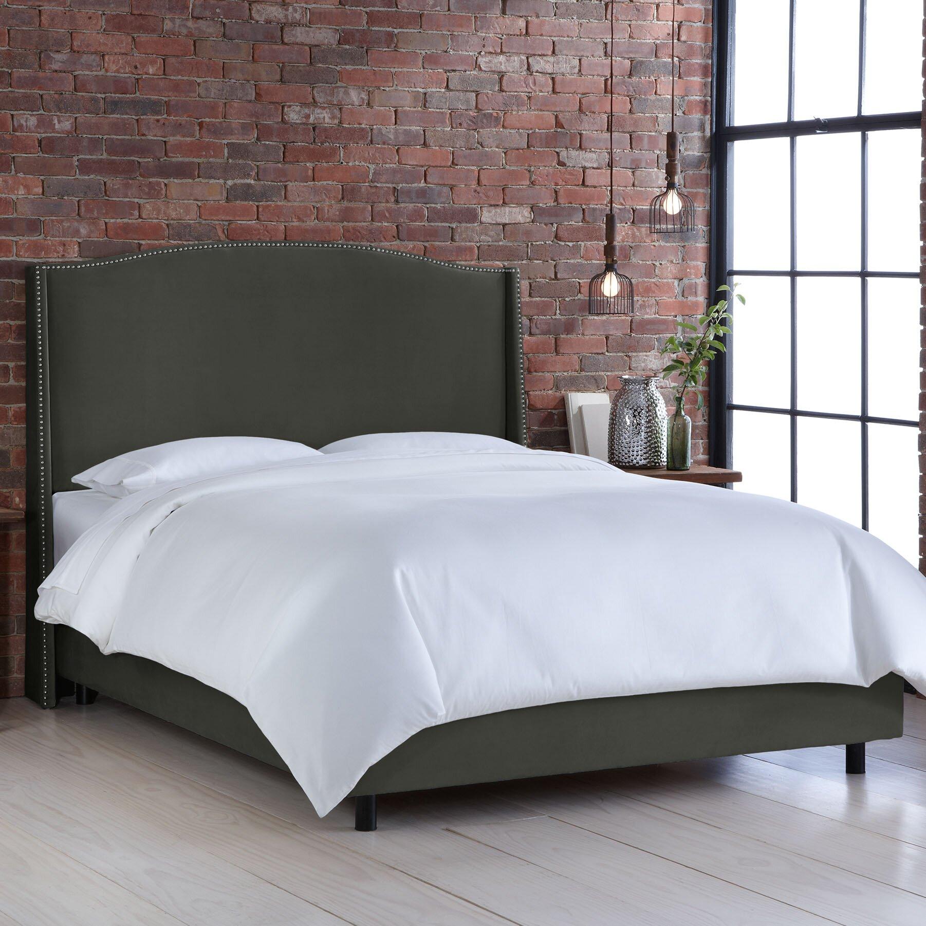 skyline furniture wingback bed | Skyline Furniture Wingback Upholstered Panel Bed & Reviews ...