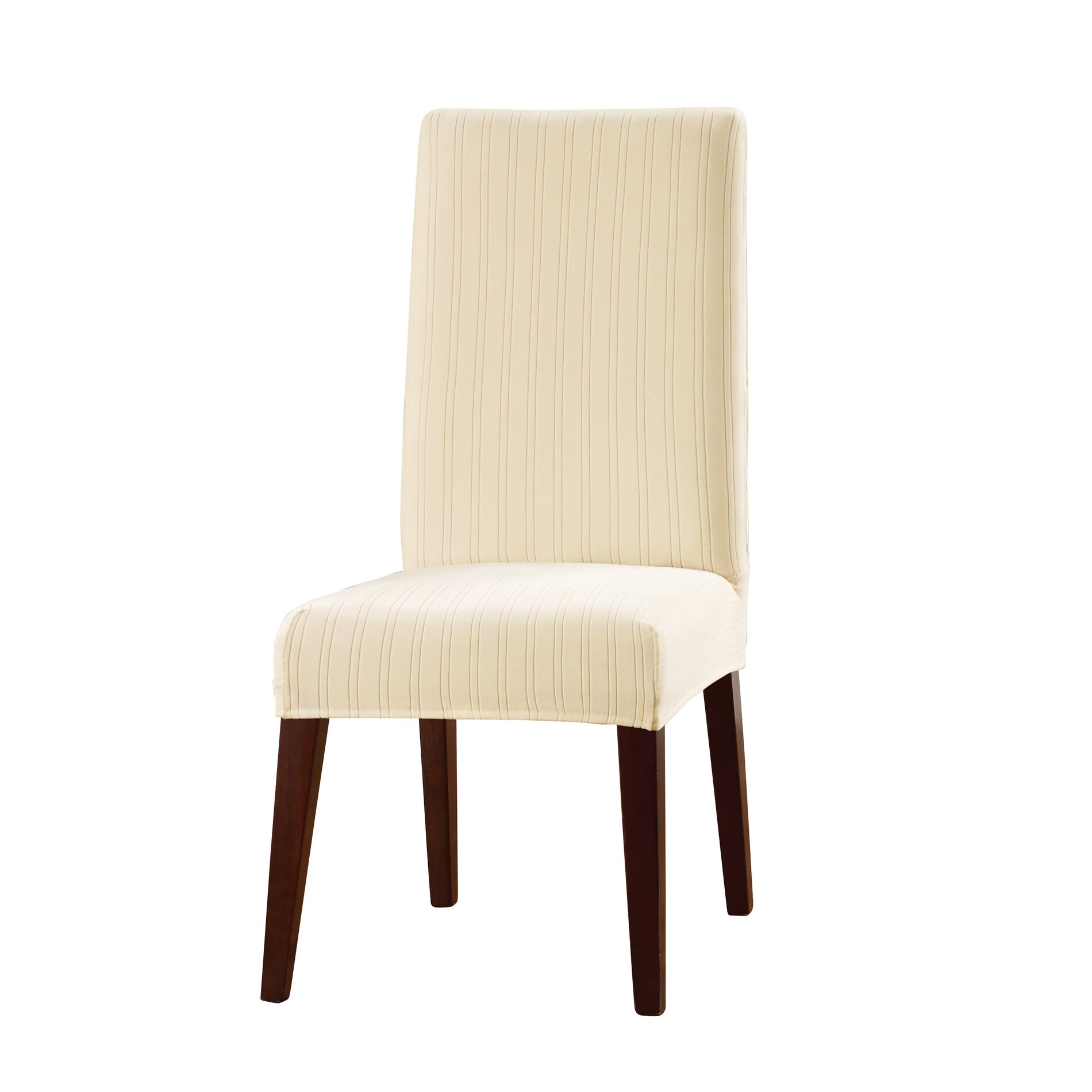 Sure Fit Stretch Pinstripe Dining Chair Slipcover & Reviews | Wayfair