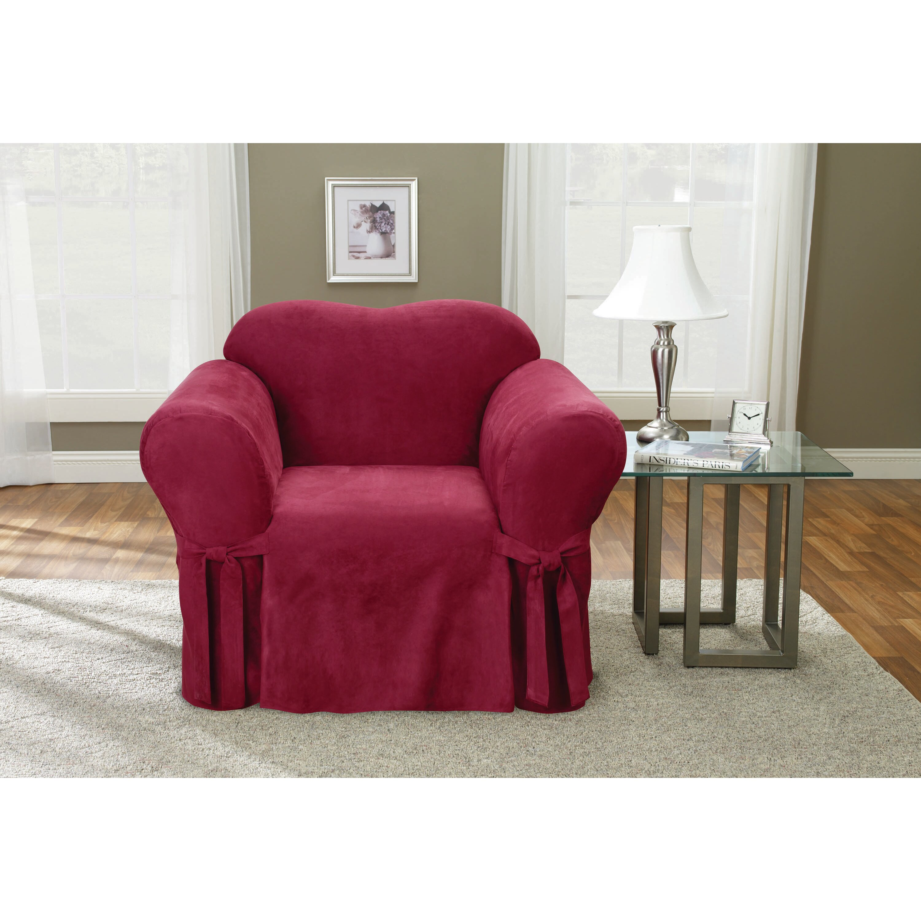 Sure Fit Soft Suede Chair Slipcover & Reviews