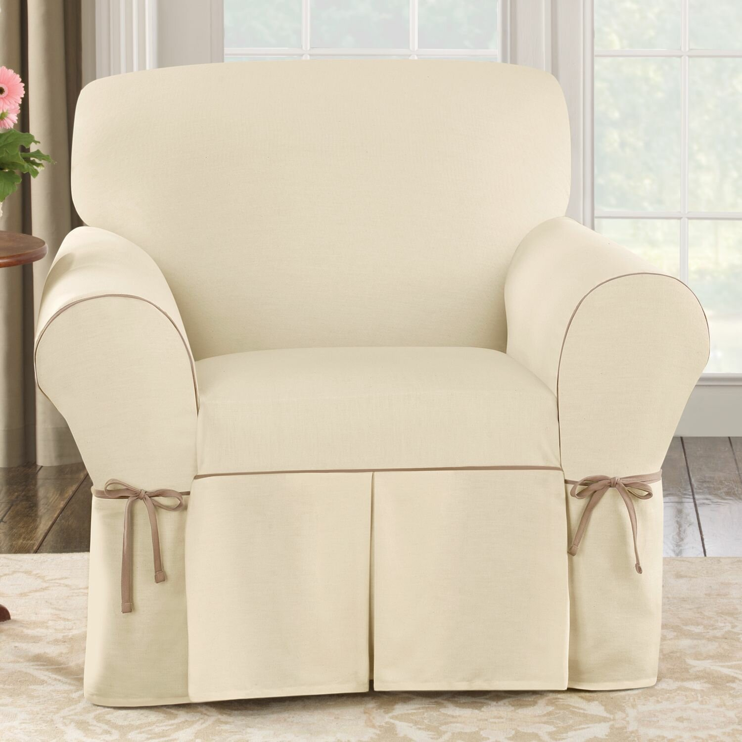 Sure Fit Cotton Duck Club Chair Slipcover & Reviews | Wayfair