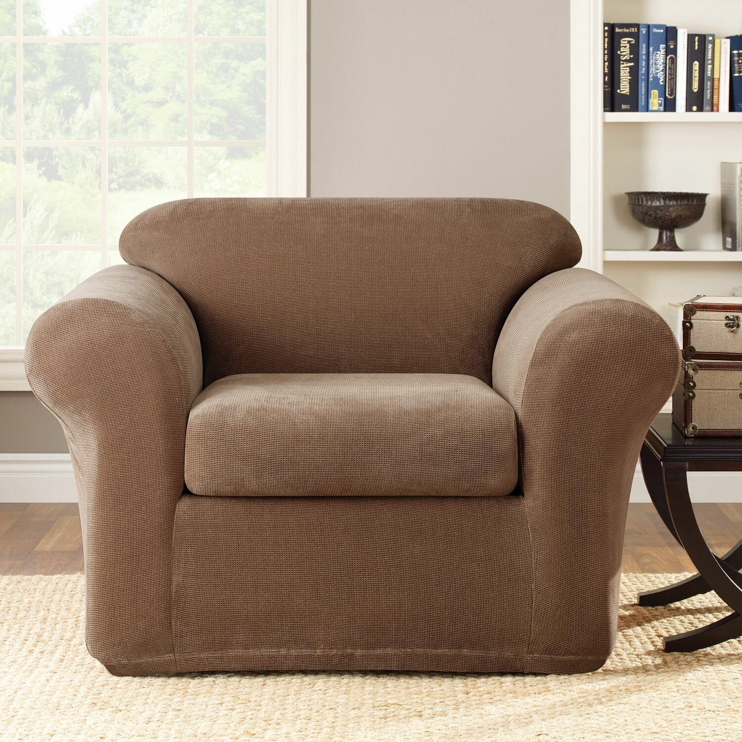 Sure Fit Stretch Metro 2 Piece Armchair Slipcover