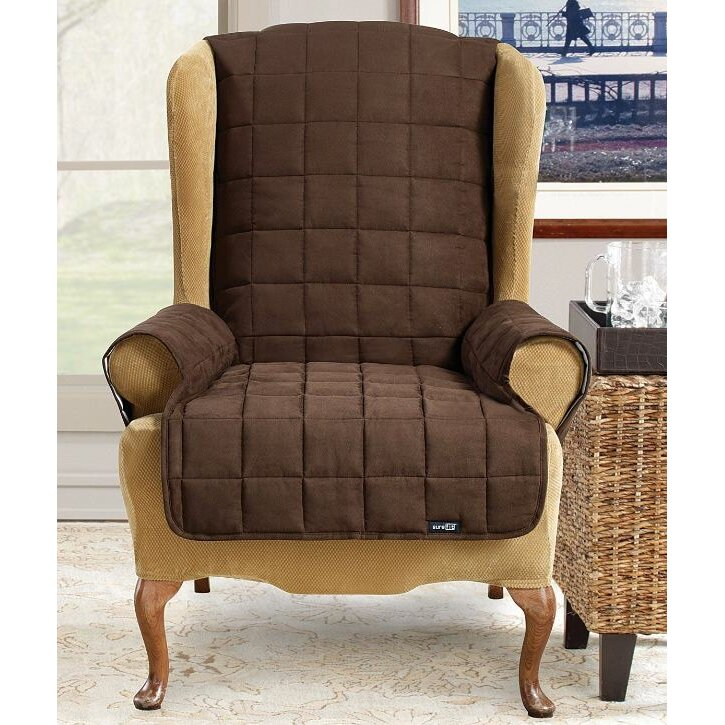 2 piece wing chair slipcover 2