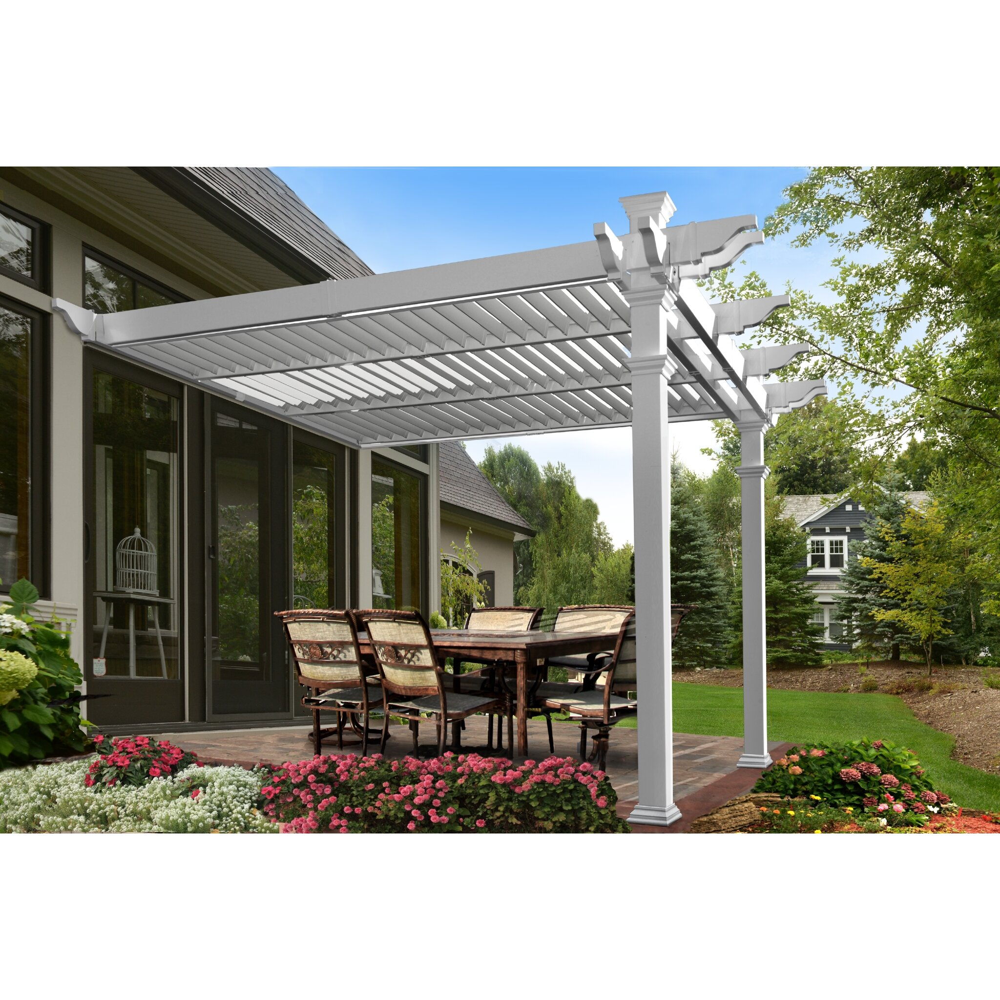 Elysium Attached Louvered 8 5 Ft H X 12 Ft W X 12 Ft D