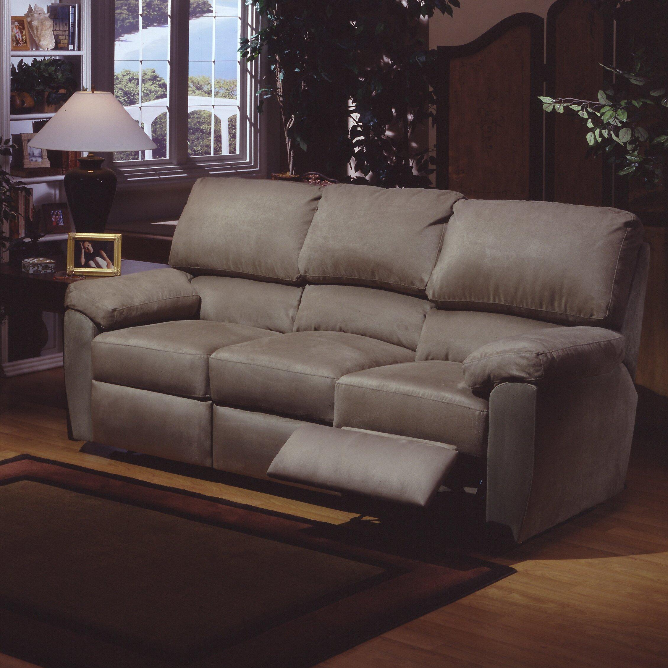Omnia Furniture Vercelli Leather Reclining Sofa Amp Reviews