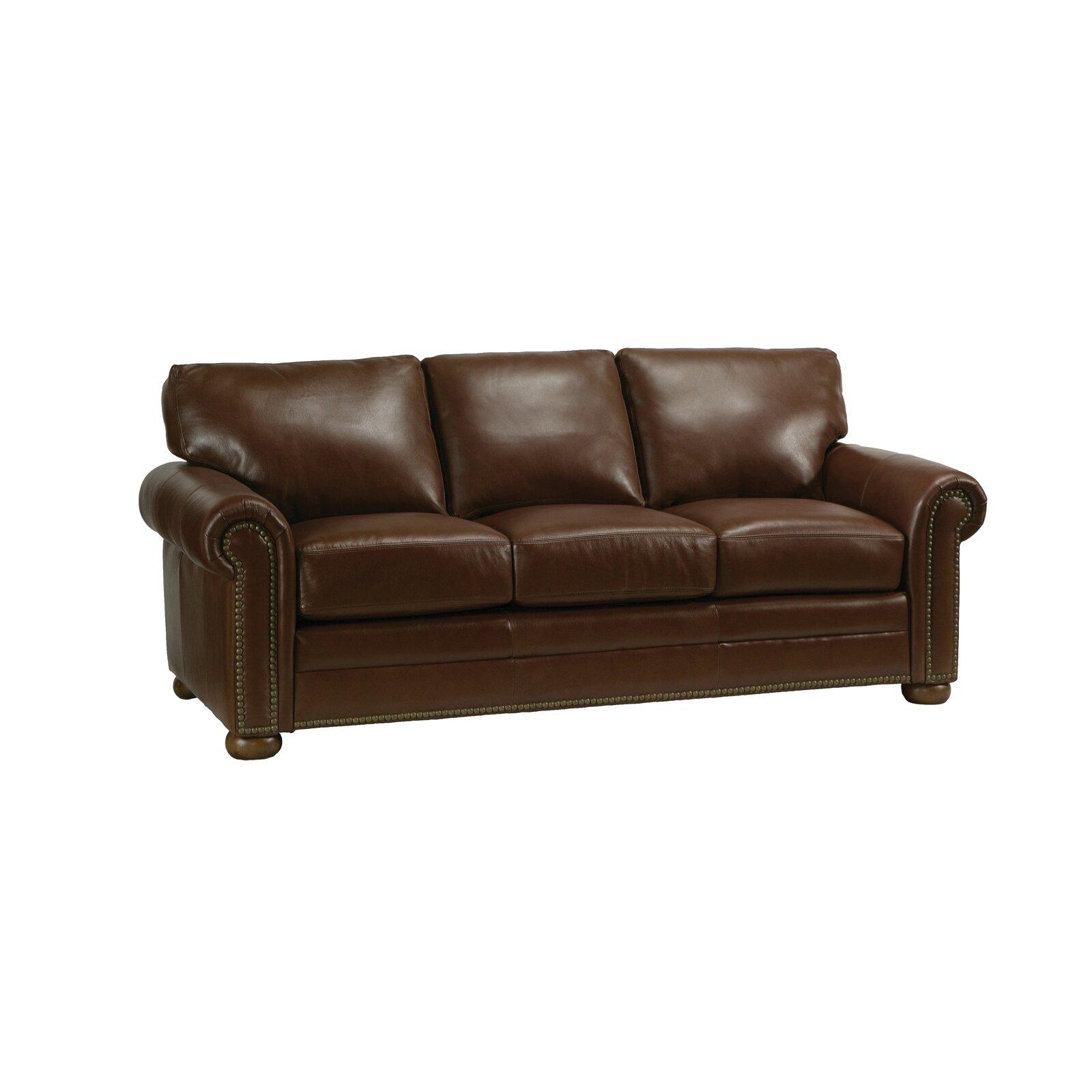 Savannah Leather Sofa Wayfair