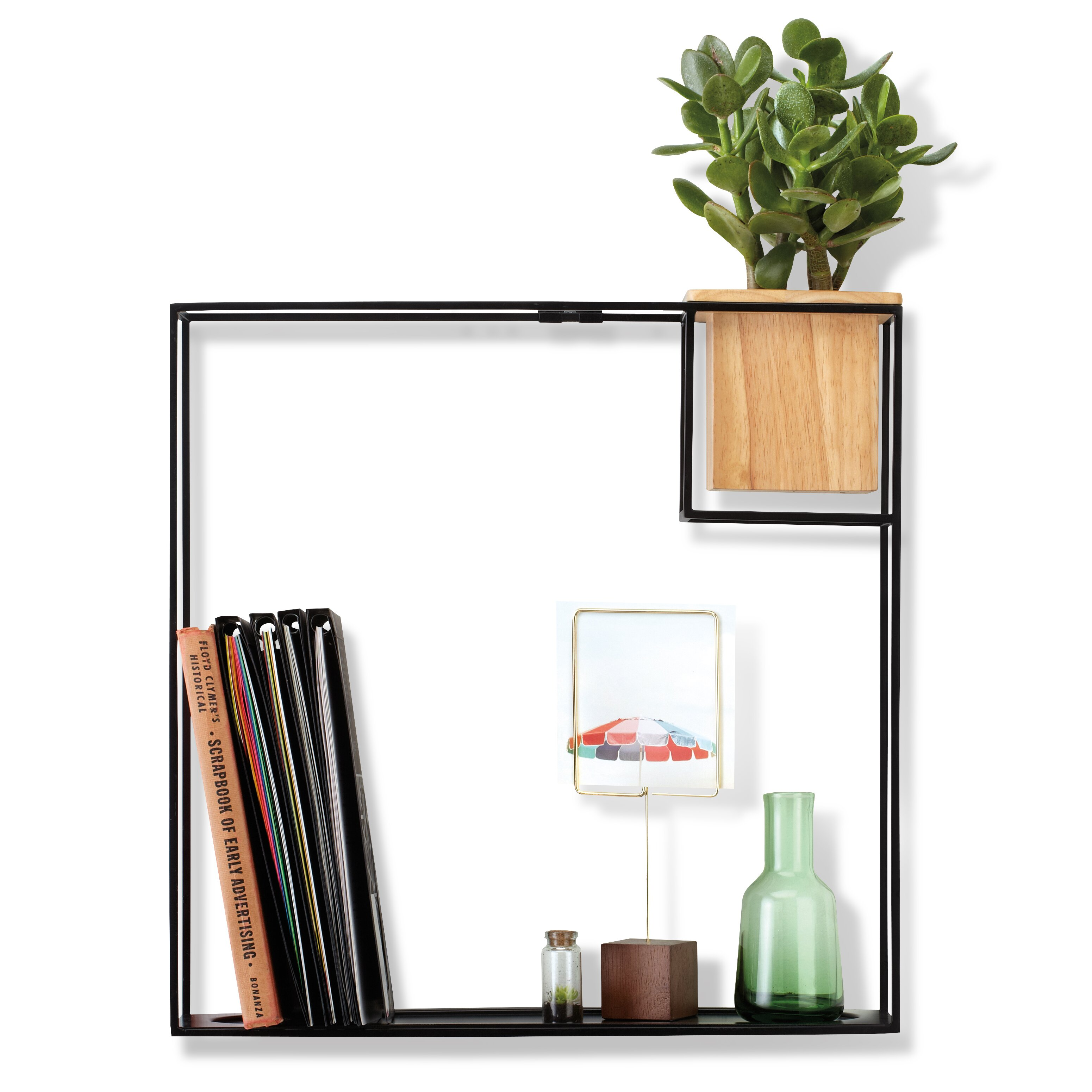 Umbra cubist floating wall shelf reviews wayfair for Decoration murale wayfair