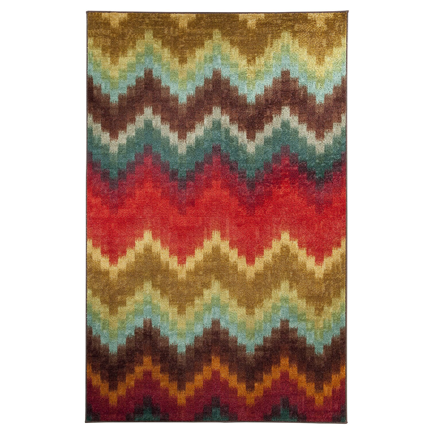 Mohawk Home Strata Painted Zig Zag Multi Printed Area Rug