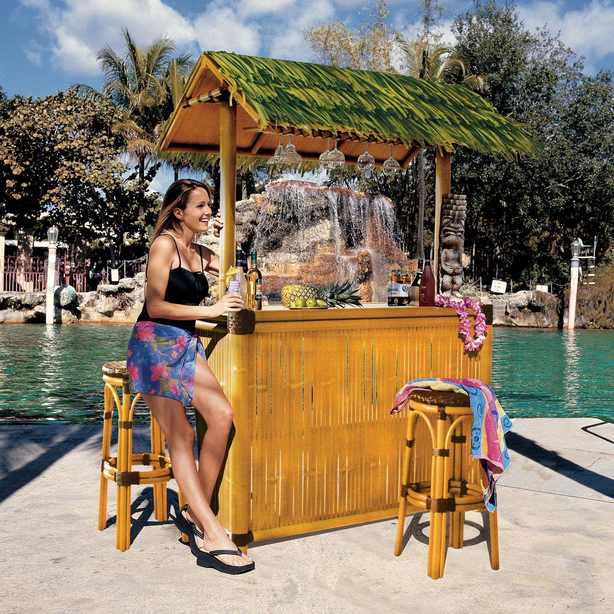 Backyard Bar Takapuna: Design Toscano Tiki Bar Set & Reviews
