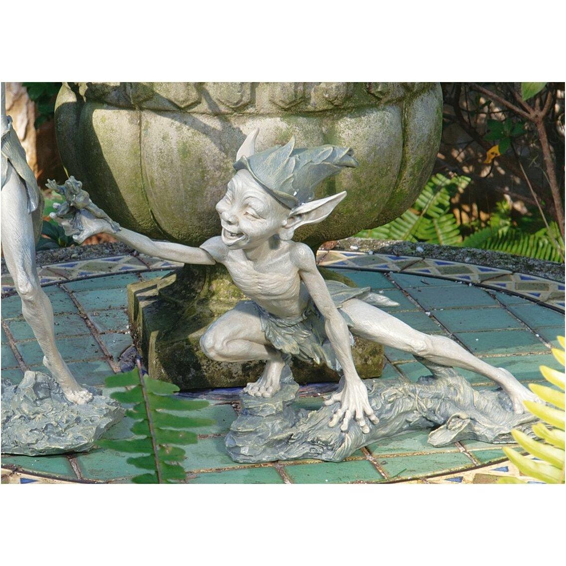 Wayfair Garden Statues: Design Toscano Stretch Garden Pixies Statue & Reviews