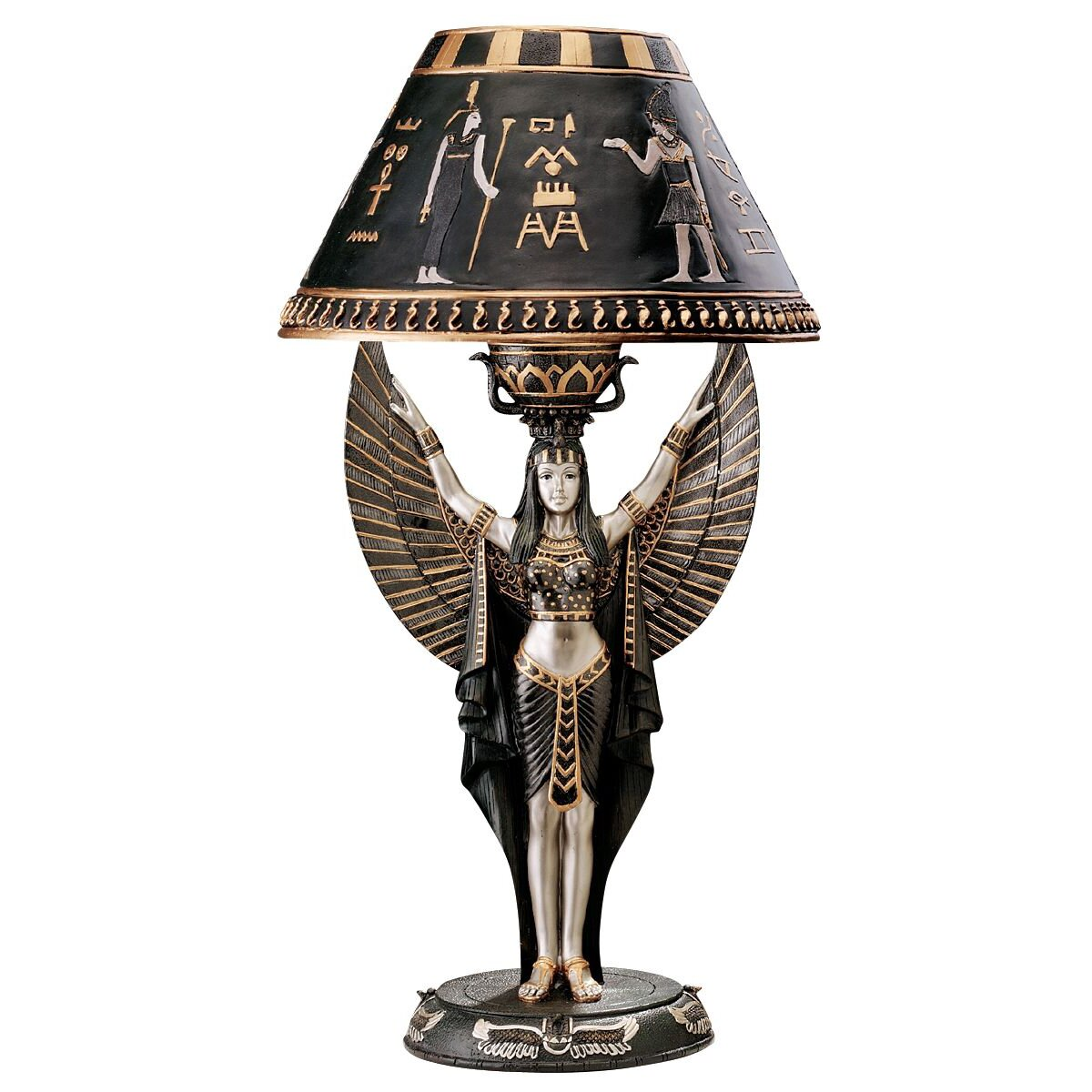 "Design Toscano Isis Egyptian Sculptural 17.5"" H Table Lamp ..."