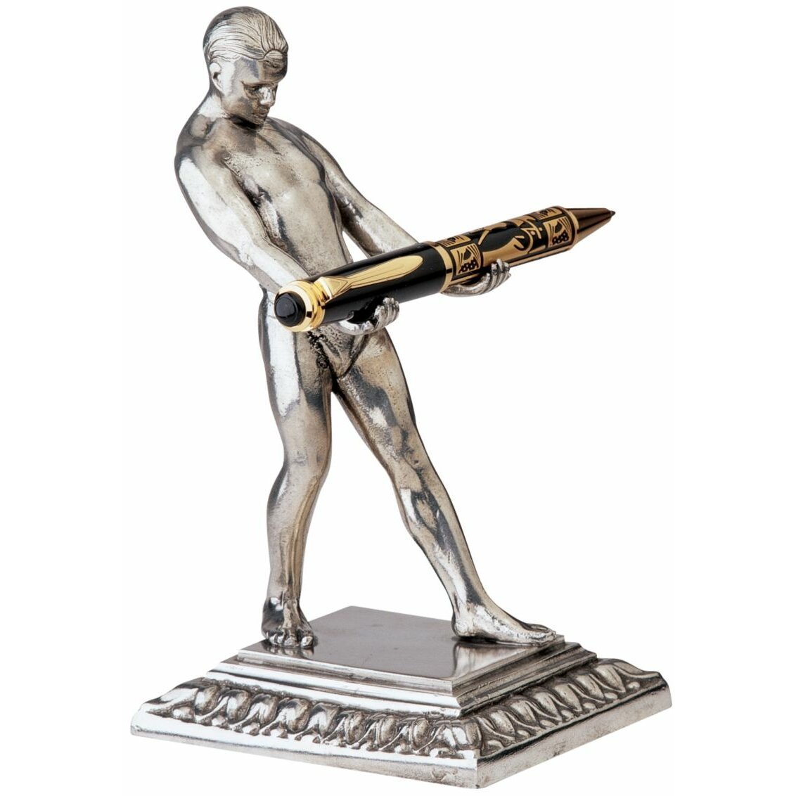 art deco strongman pen holder sculpture wayfair. Black Bedroom Furniture Sets. Home Design Ideas