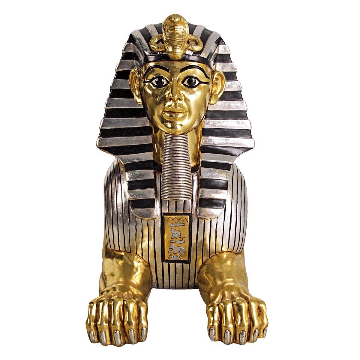 Grand gilded egyptian sphinx statue wayfair