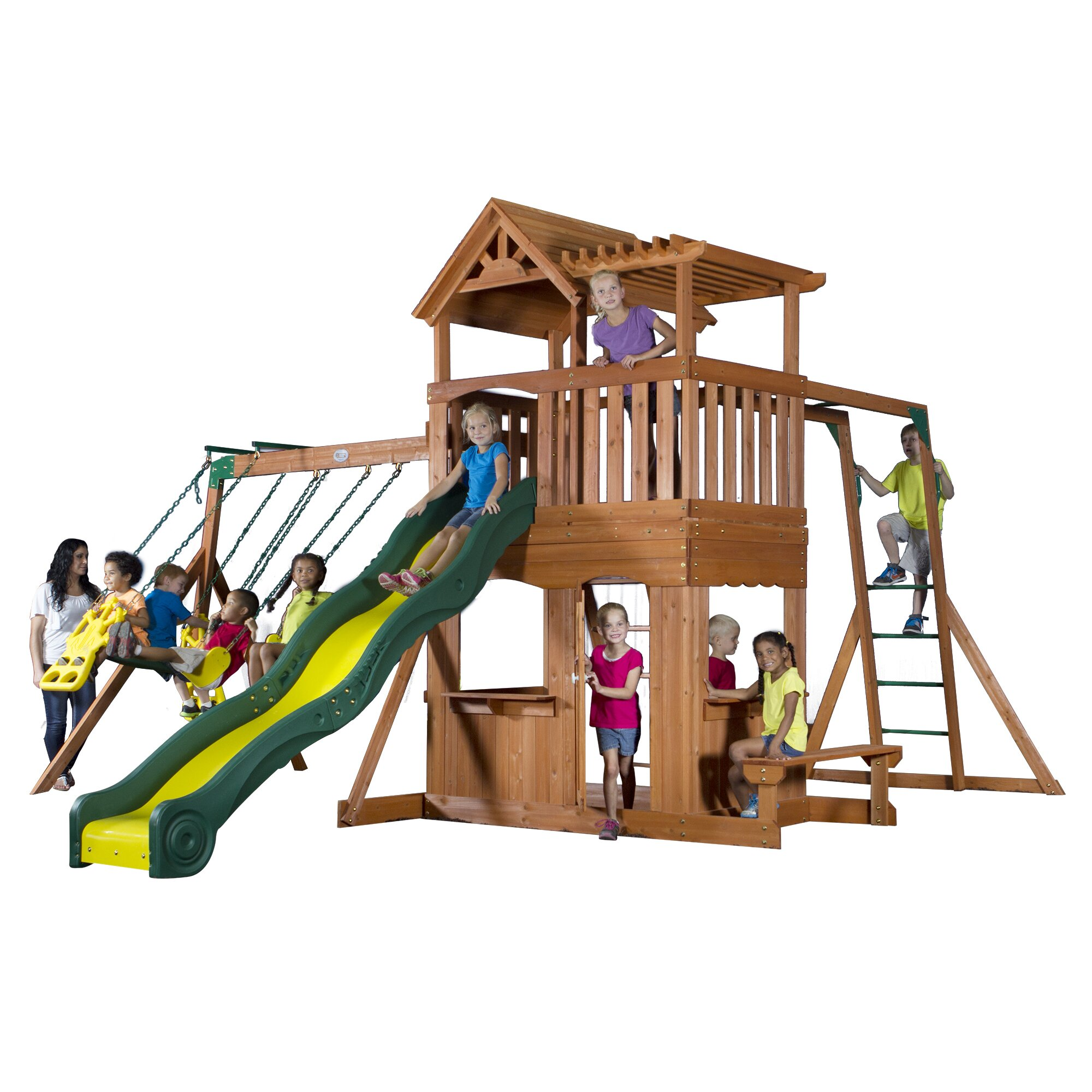 backyard discovery thunder ridge all cedar swing set reviews