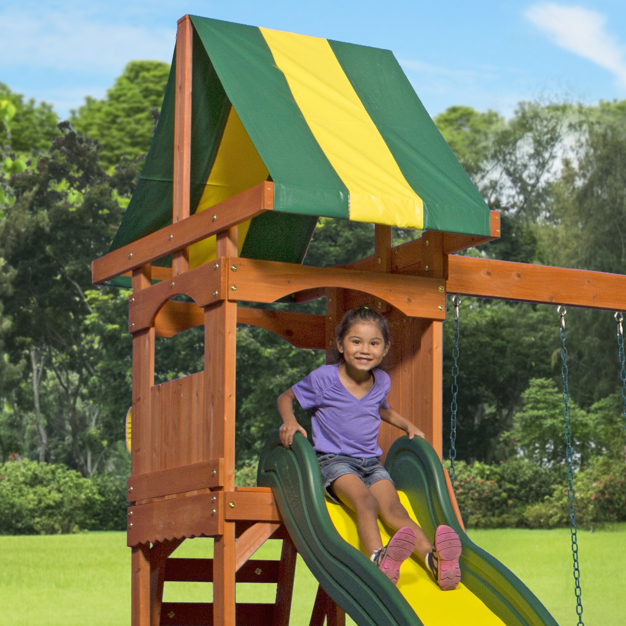 Awesome Backyard Discovery Weston Cedar Swing Set