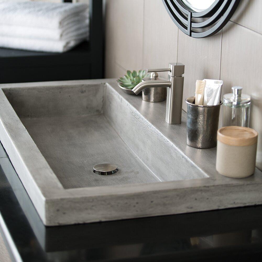 Stone Trough Sink : Home Improvement Bathroom Fixtures ... Native Trails Part #: NSL3619-A ...