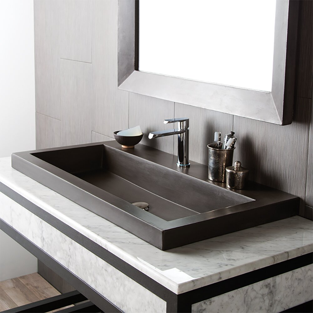 Trough Sink : Native Trails Trough Stone Bathroom Sink & Reviews Wayfair