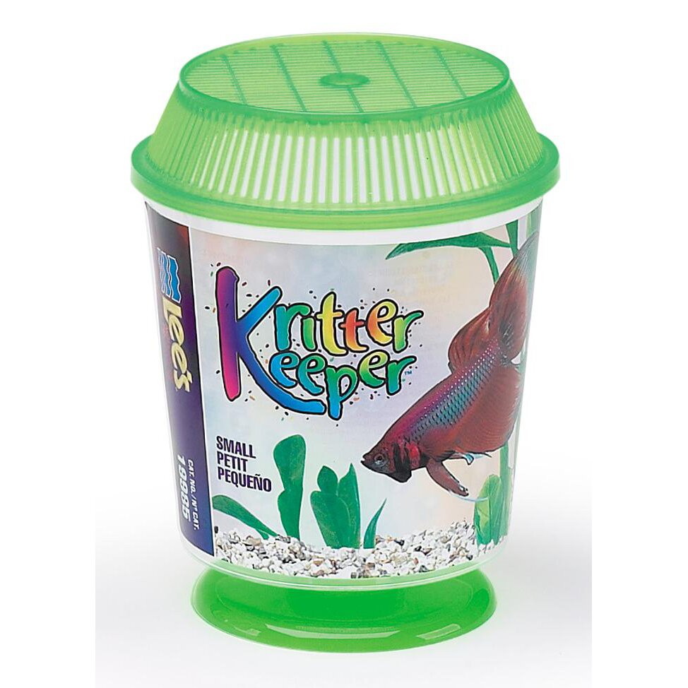 Kritter Keeper Round Fish Home Aquarium Bowl by Lees Aquarium & Pet