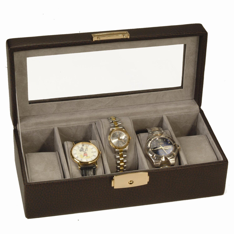 royce 5-slot leather watch box