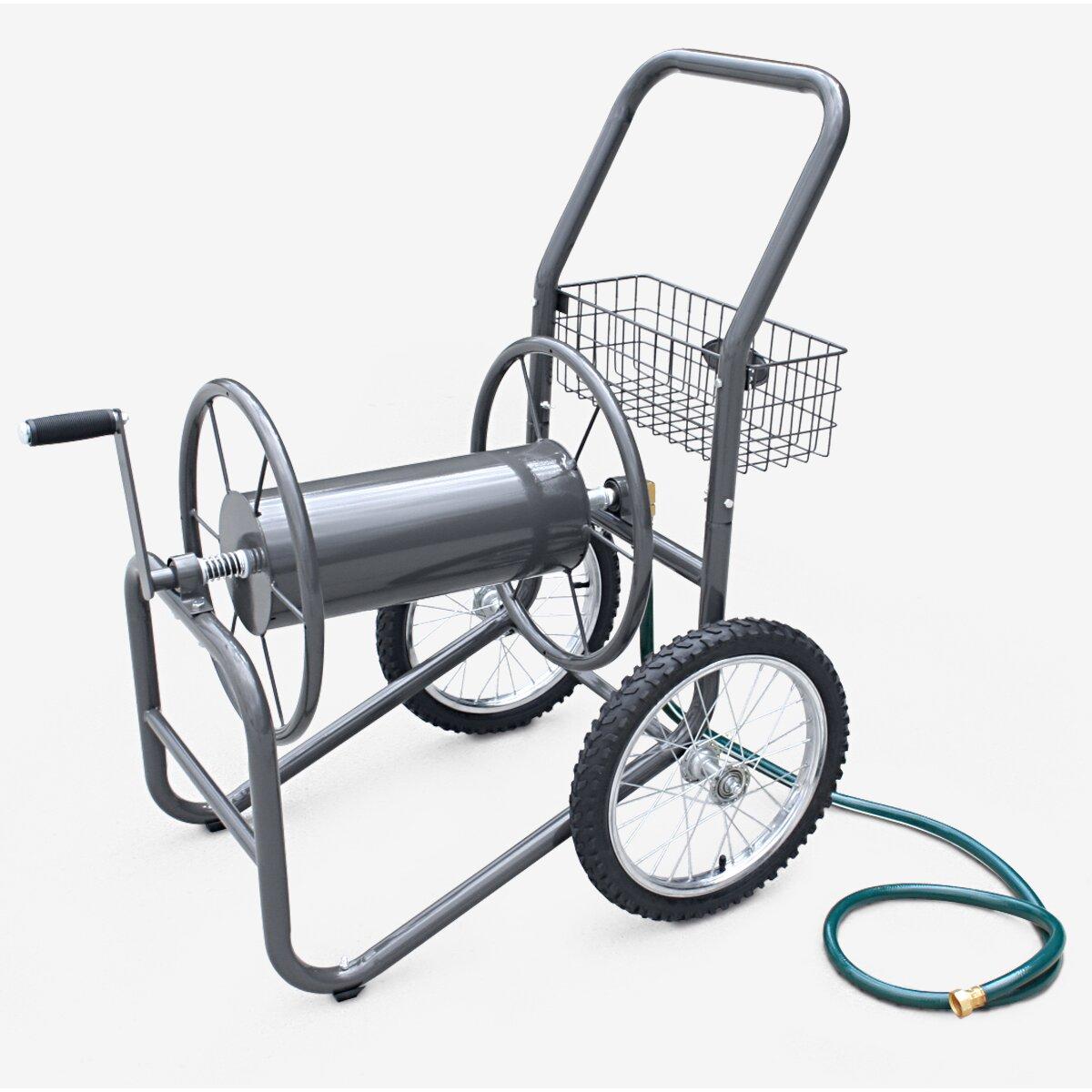 Liberty Garden Industrial 2 Wheel Hose Reel Cart & Reviews ...