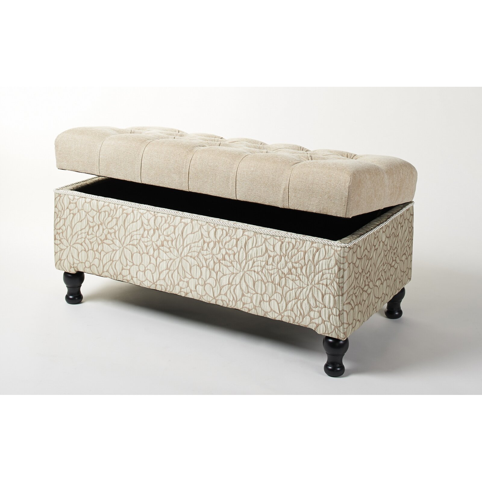 jennifer taylor naomi upholstered storage bedroom bench