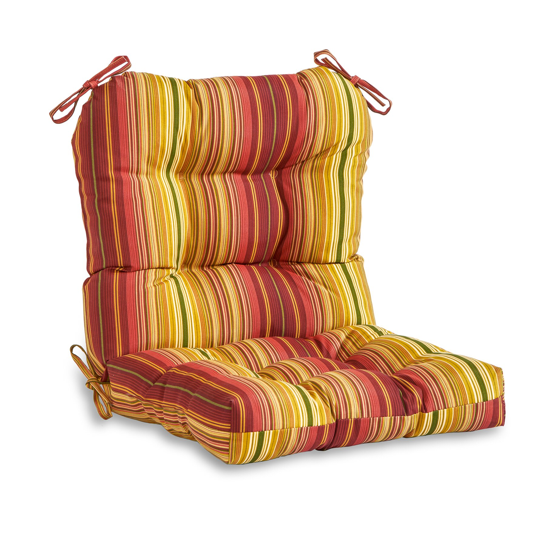 greendale home fashions outdoor dining chair cushion reviews wayfair. Black Bedroom Furniture Sets. Home Design Ideas