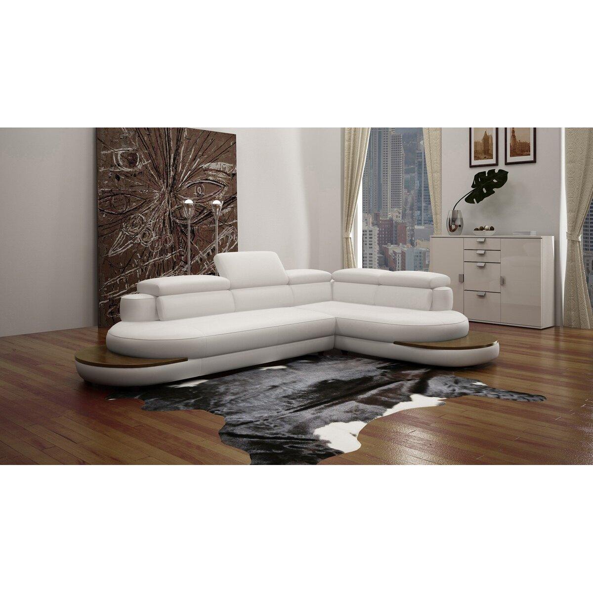 Divani Casa Leather Sectional  Wayfair