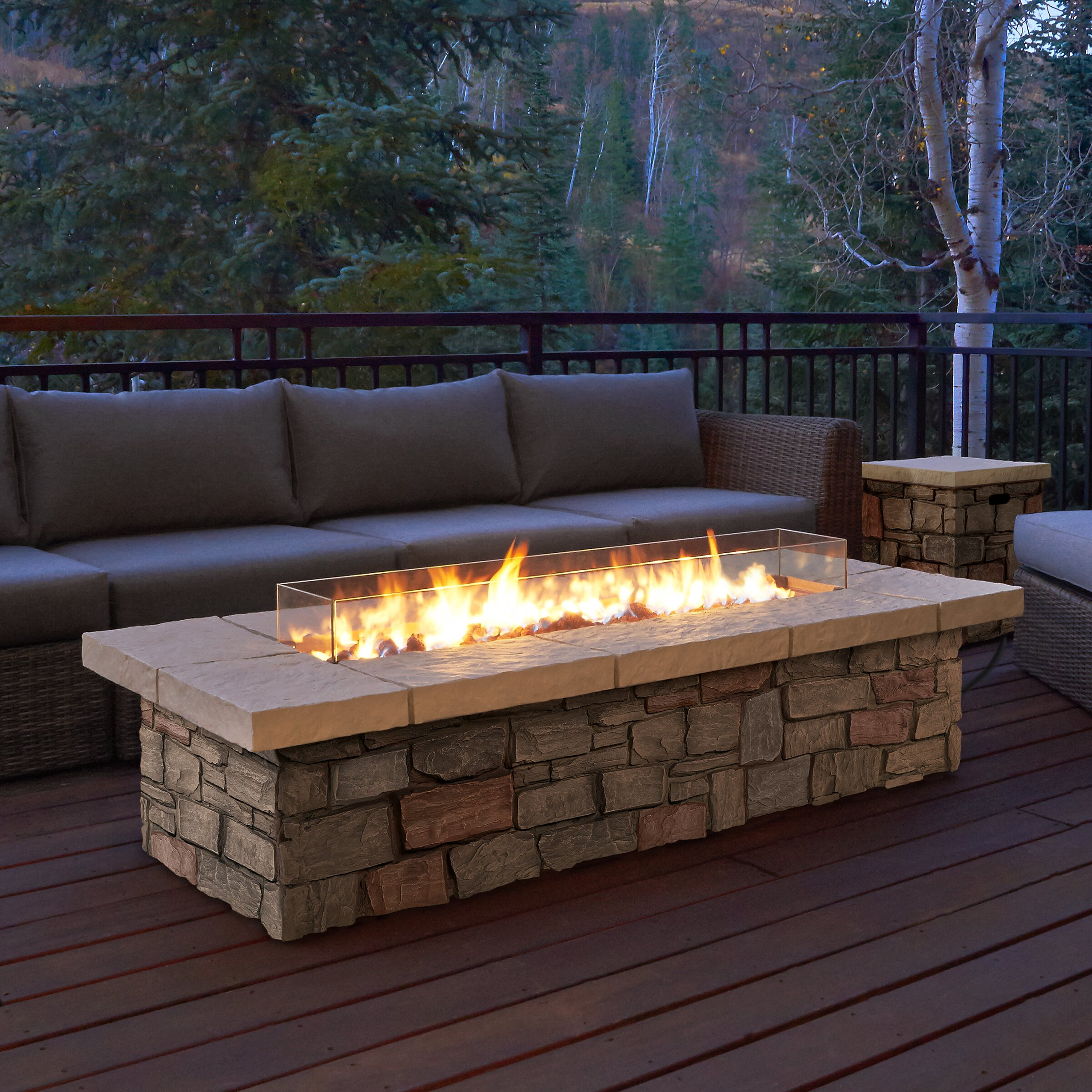 Natural Gas Fire Pits For Decks
