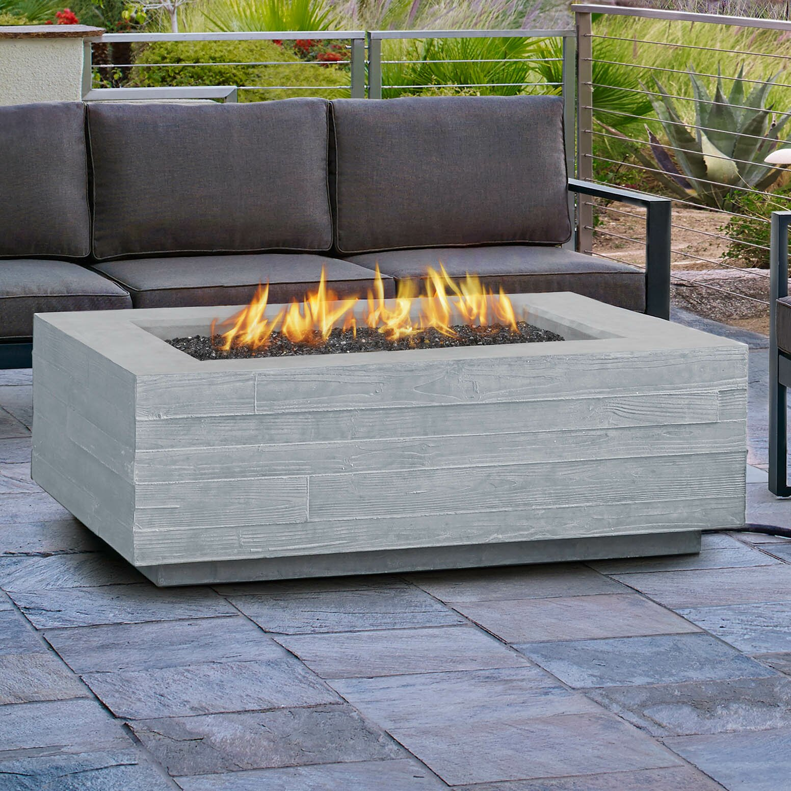 Board Form Propane Outdoor Fireplace