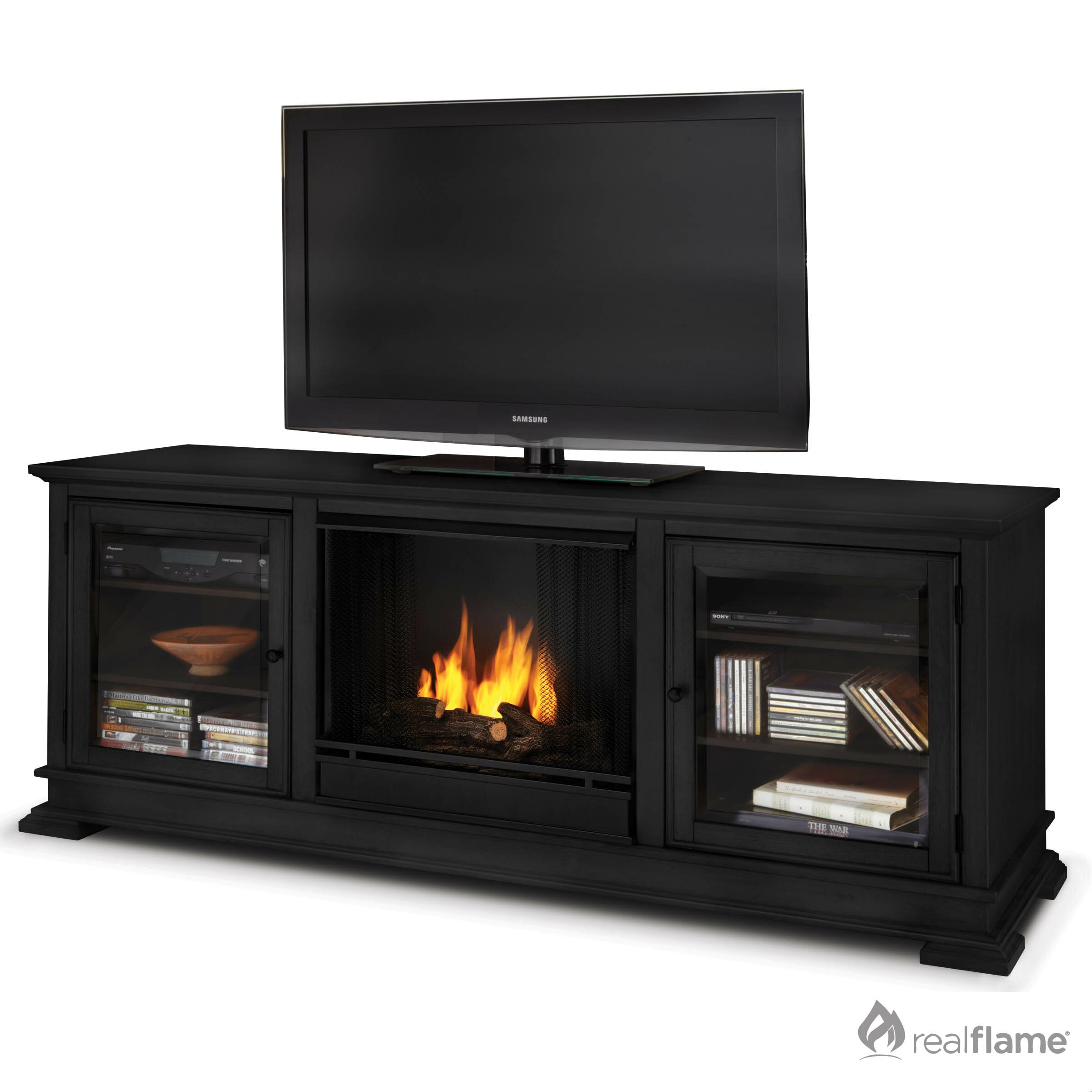 Real Flame Hudson Ventless Tv Stand With Fireplace Reviews Wayfair