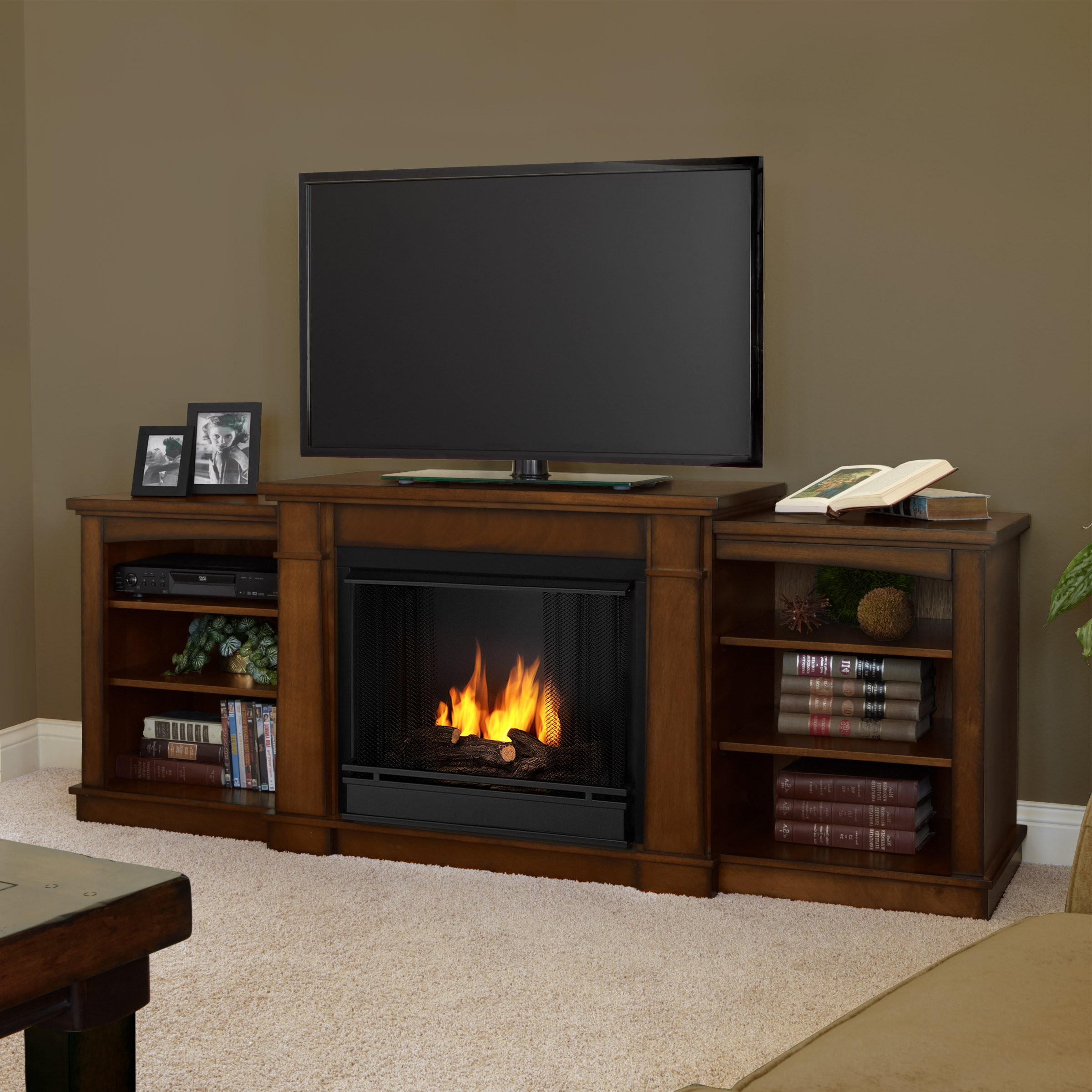 Real Flame Hawthorne Tv Stand With Gel Fireplace Reviews Wayfair