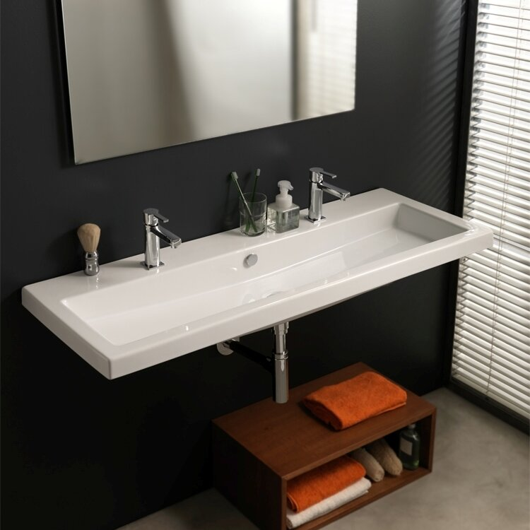 Ceramica Tecla Cangas Ceramic Bathroom Sink with Overflow & Reviews ...