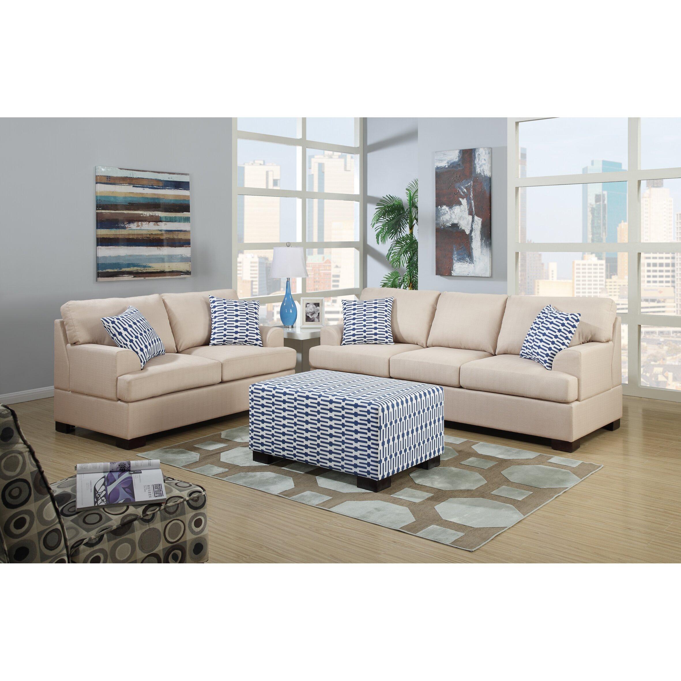 plaid sofa and loveseat | centerfieldbar