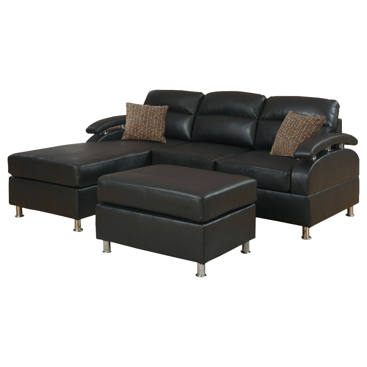 Poundex Bobkona Reversible Chaise Sectional Reviews