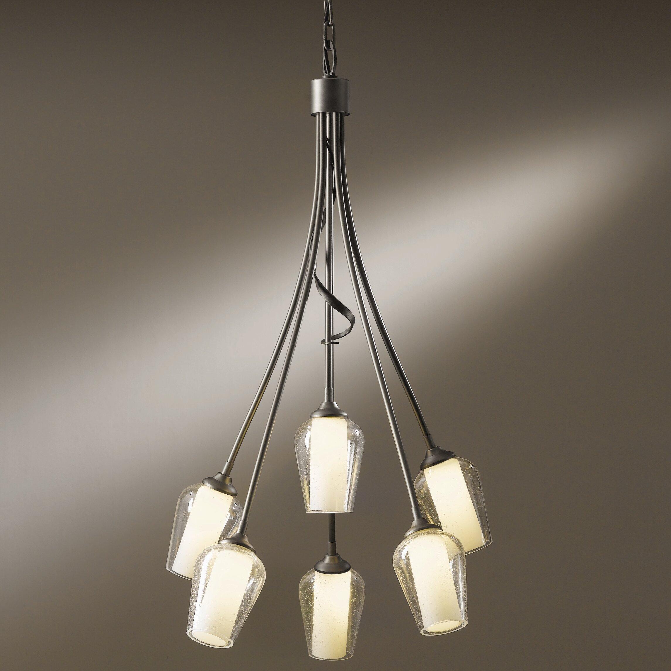 Flora 6 light chandelier wayfair for Hubbardton forge bathroom lighting