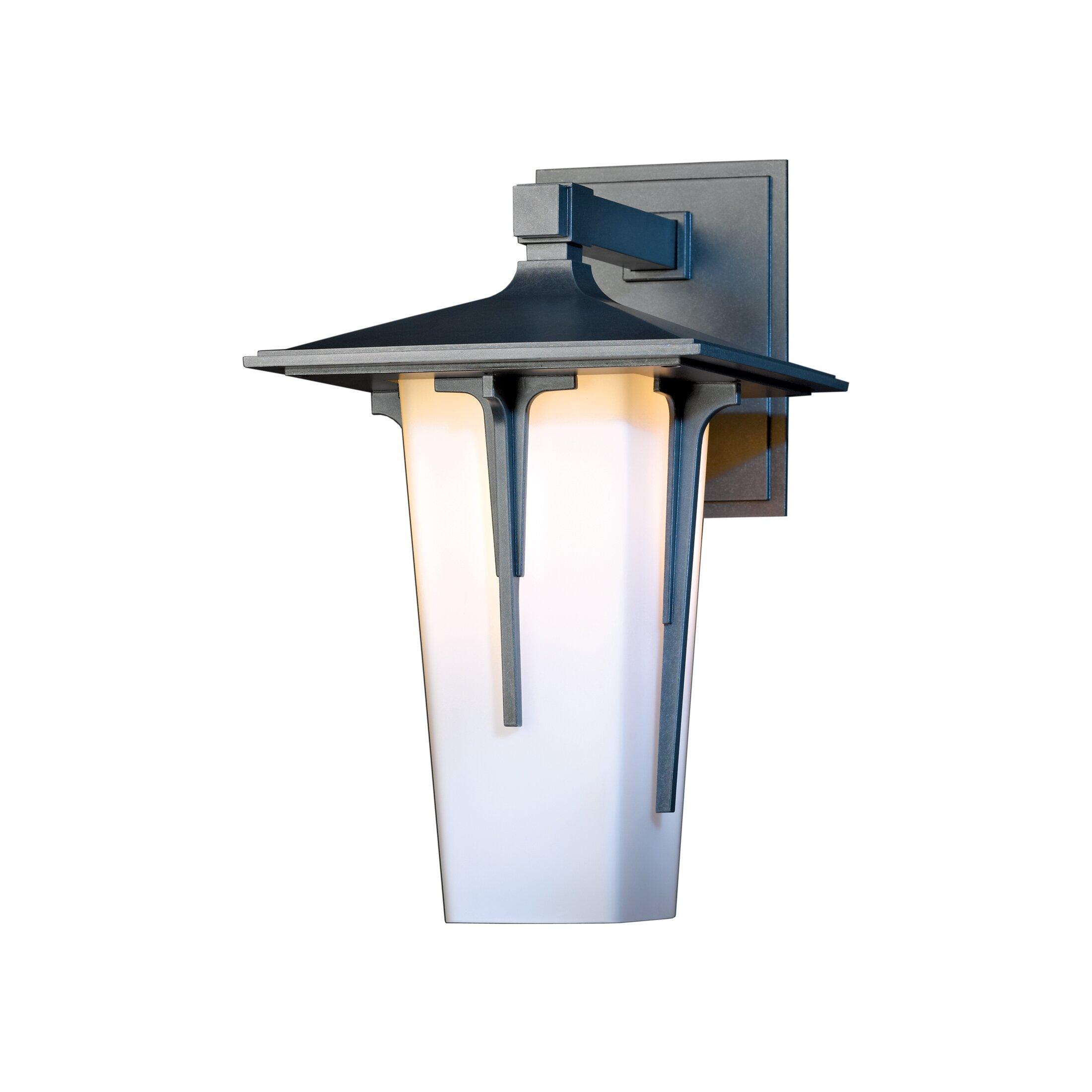 Hubbardton Forge Modern Prairie: Modern Prairie 1 Light Outdoor Wall Larntern