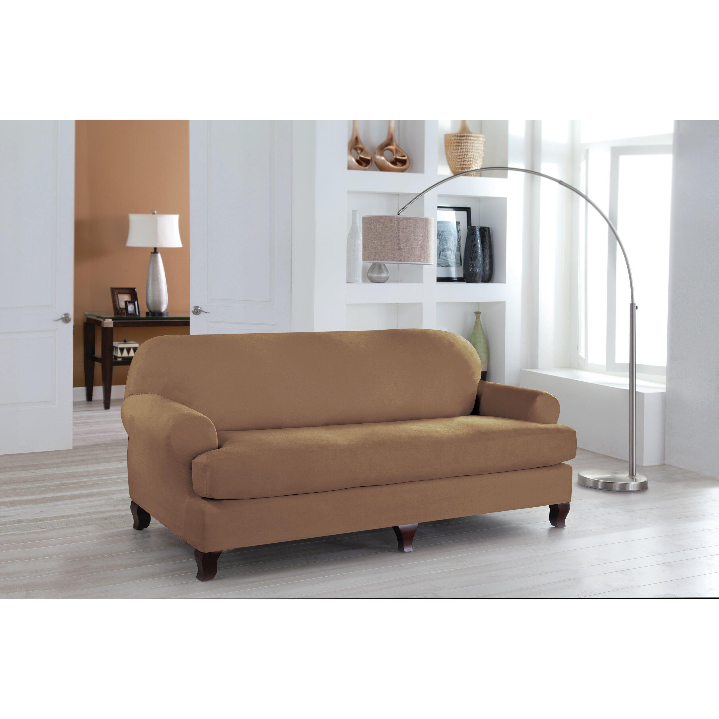T Cushion Sofa Slip Cover: Perfect Fit Industries Tailor Fit Sofa T Cushion Slipcover