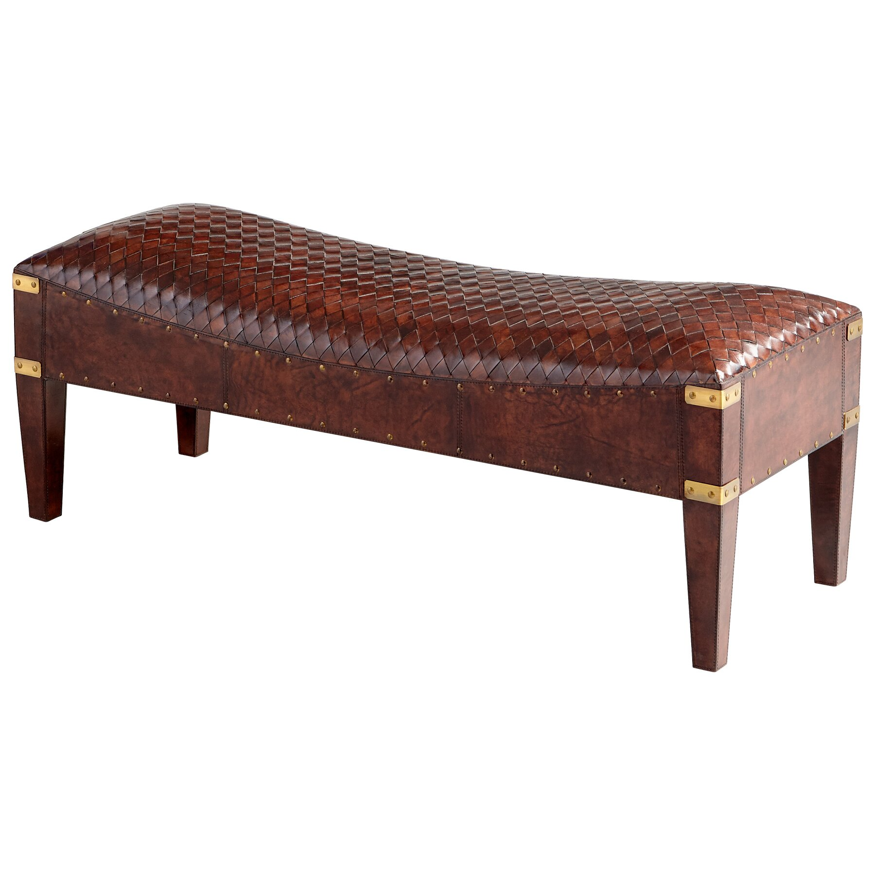 Mechi Leather Entryway Bench Wayfair