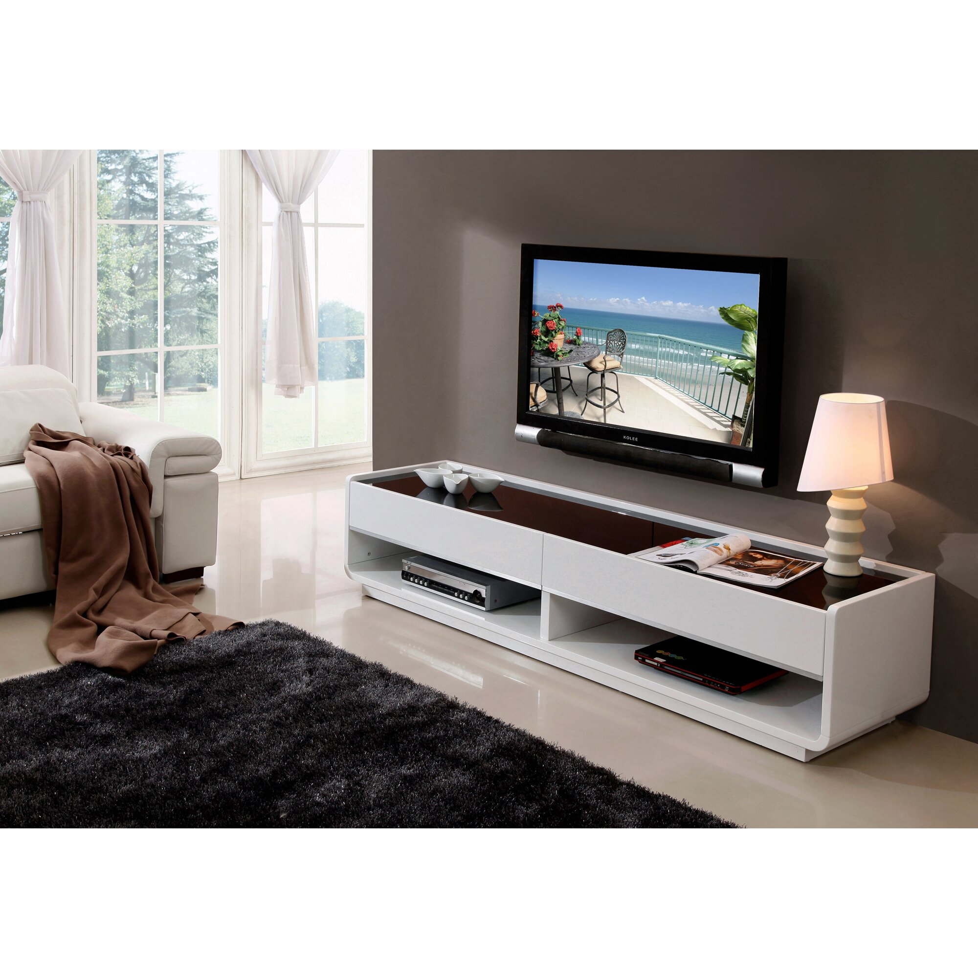 b modern tv stand reviews wayfair. Black Bedroom Furniture Sets. Home Design Ideas
